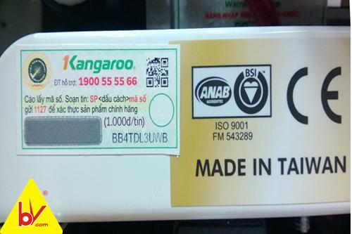 xuất xứ máy lọc nước kangaroo made in taiwan