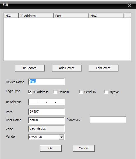 login phần mềm cms camera 6