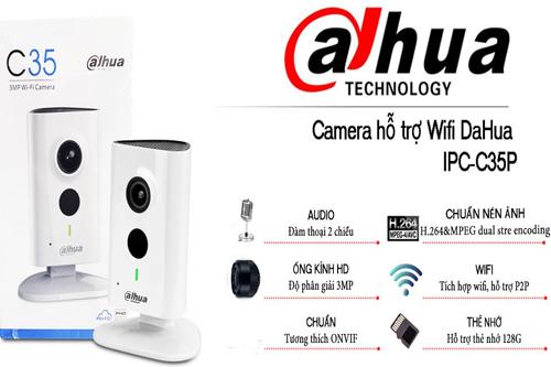 Camera Dahua C35P 3MP IP Wifi không dây