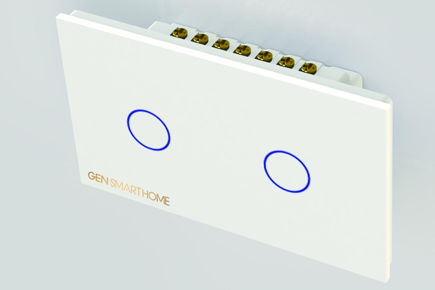 Công tắc cảm ứng Wifi 2 nút chạm Gen SmartHome