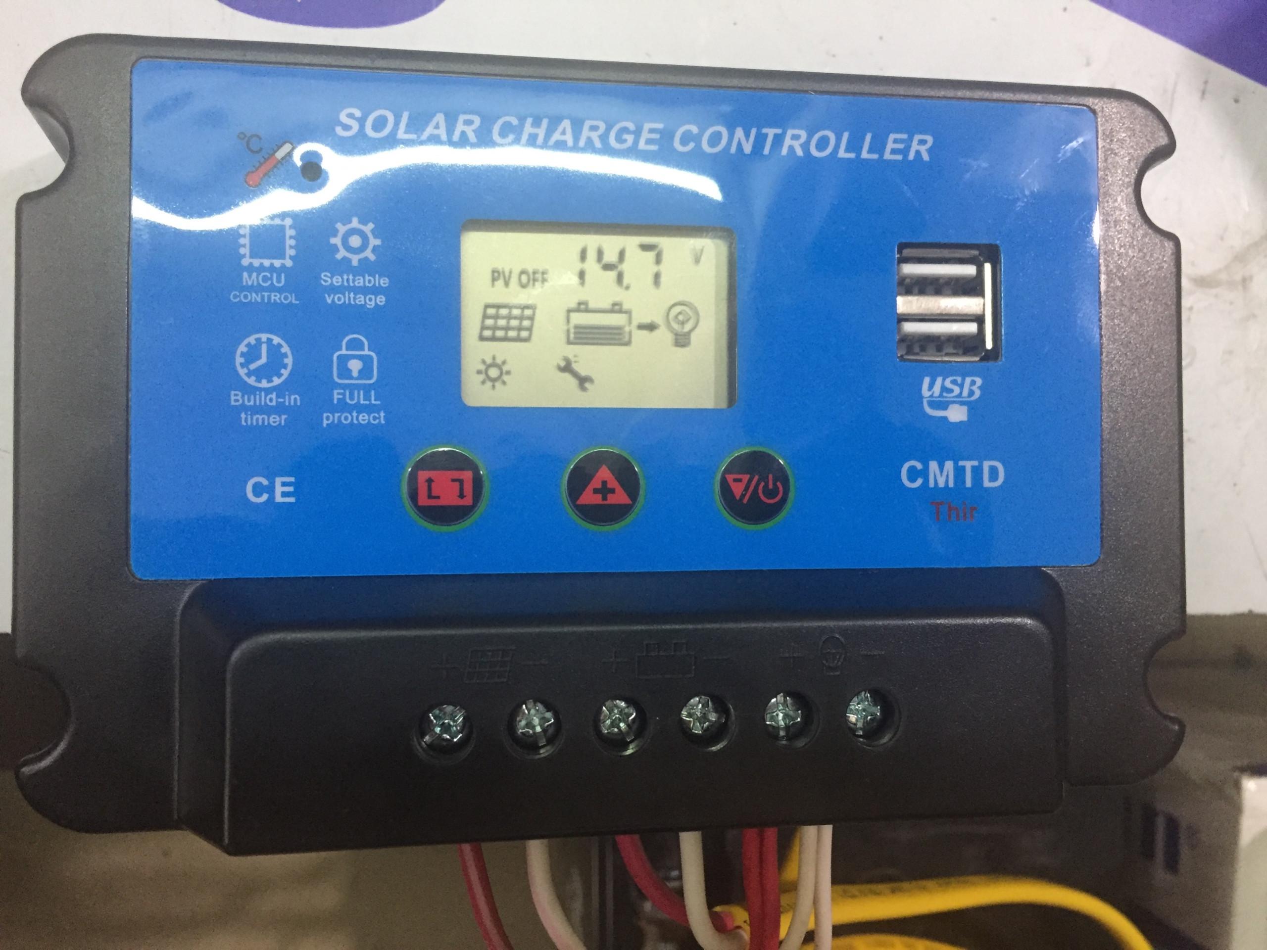 bộ điều khiển sạc solar charger controller 24v