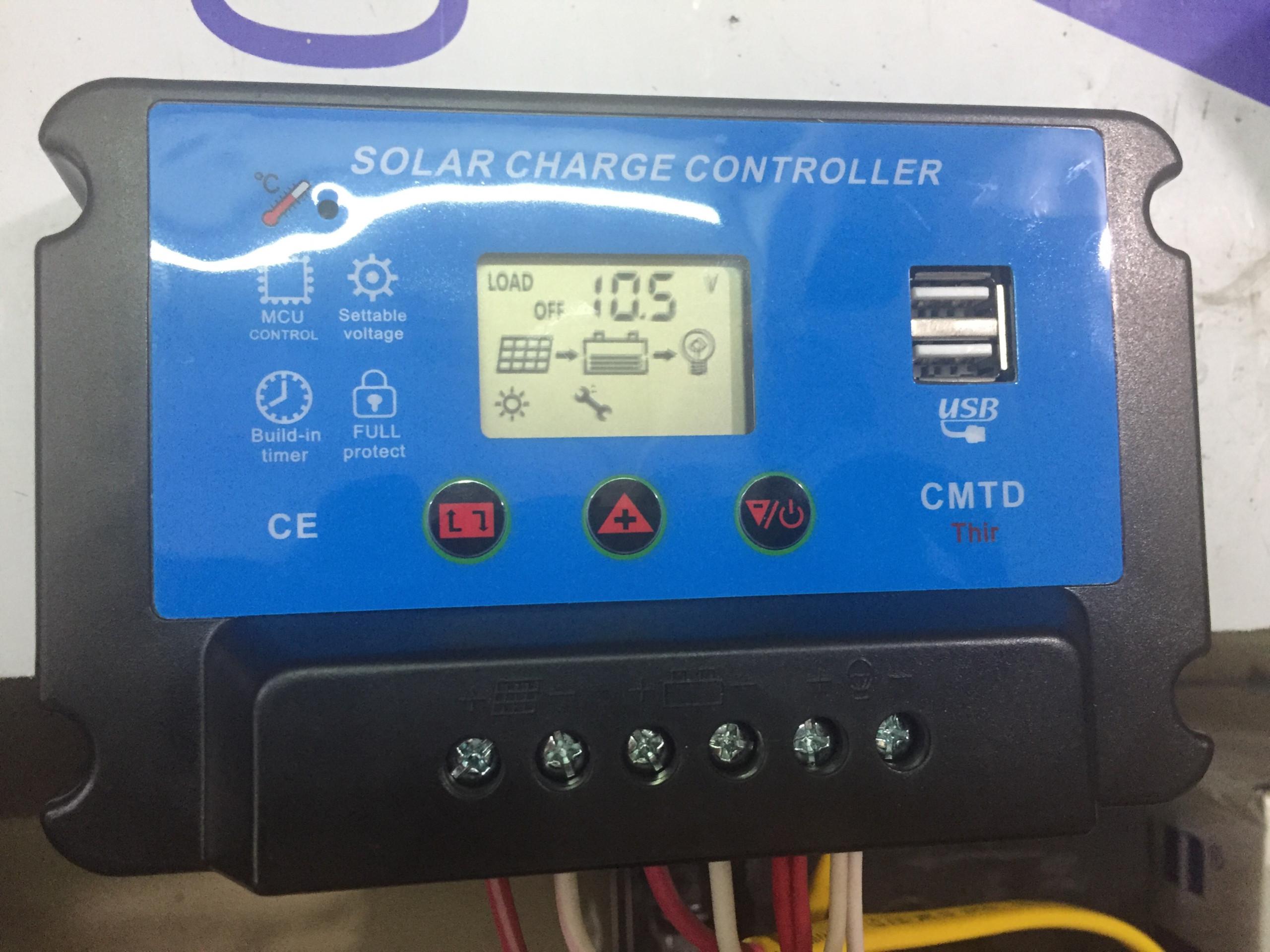 bộ điều khiển sạc solar charger controller 30a